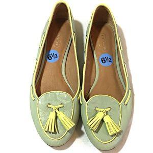"COACH ""MALIKA Leather Loafers Size 6.5 M"